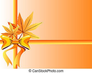 Maple leaves and bow