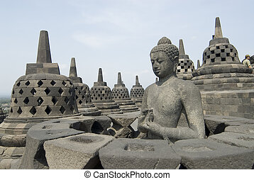 Borobudur Temple in Java, Indonesia