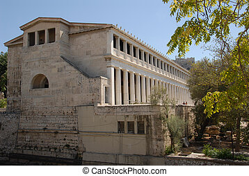 Greek Agora - Building in ancient Greek Agora, Athens