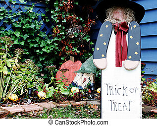 Trick or treat country garden - Cute trick or treat country...