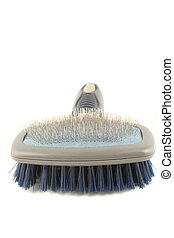 dog grooming brush with soft and hard bristles
