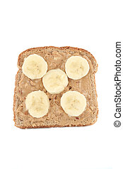 peanut butter toast - peanut butter and banana whole wheat...