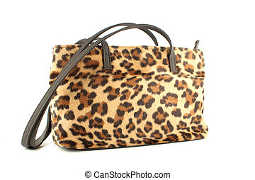 leopard purse - leopard pring fur fashionable purse or...