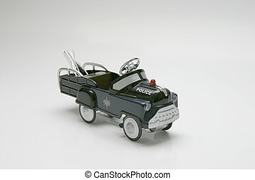 Pedal Car - Tow - Pedal car toy, police tow truck
