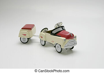 Pedal Car - Trailer - Pedal car toy, trailer in tow