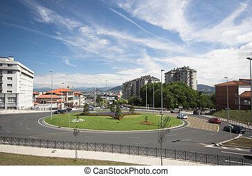 roundabout, Santander, Spain
