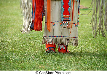 Native American - Colorful Native American  female clothing