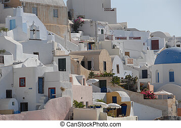 Village of Oia - The village of Oia, on Santorini`