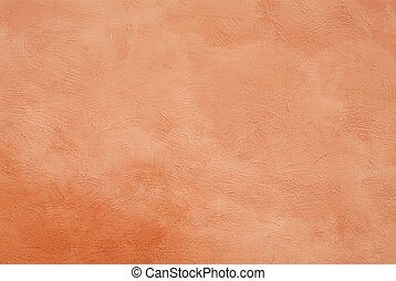 stucco wall - close up detail of rustic textured terracotta...