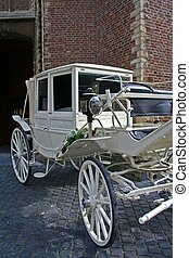 wedding carriage - ceremony in church