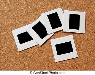Slides - Photo slides and frames on a board. Images can be...