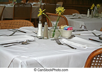 restaurant dinning - table set for restaurant dinning