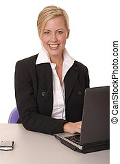 Lovely Business Lady - Beautiful and sexy blond business...