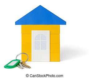 House and Keys - Isolated block house and keys