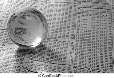 World Market - Photo of a Glass Globe on a FInancial...