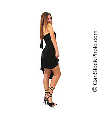 glamorous girl - glamorous young lady in the evening dress