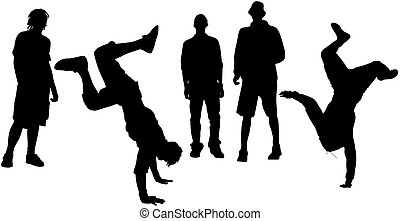street dance - isolated dancers(great for your design and...