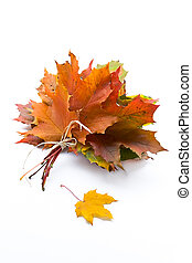 Autumn leaves - Autumn bouquet from leaves in a gift to the...