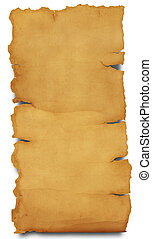 Parchment isolated - Special photo f/x(clipping path,great...