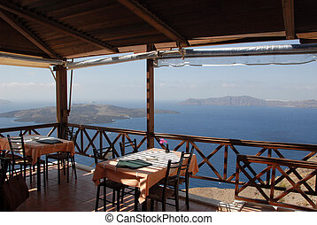 Aegean Restaurant - Restaurant overlooking the Aegean in...
