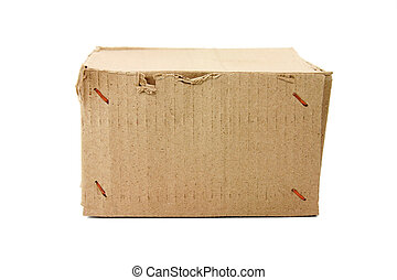 cardboard  boxes with white background