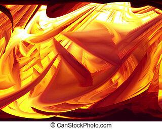 Firery - Abstract of firery coals