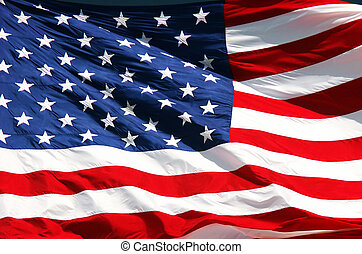 Stars & Stripes - Close-up of US flag