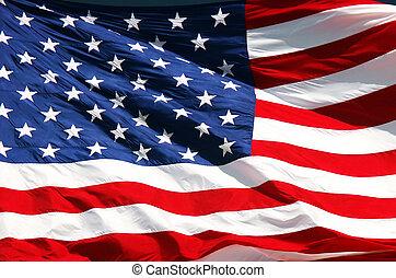 Stars & Stripes - Close-up of US flag