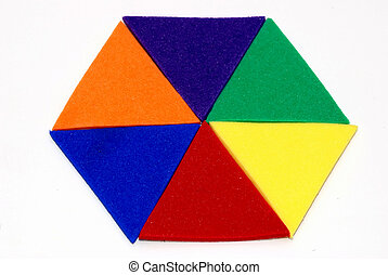 colored hexagon - a brightly colored, isolated hexagon