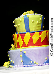 Wild and Funky cake - An over the top, super crazy layered...