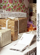 wedding gifts - A blank guest book at a wedding or birthday...