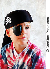 Pirate Boy - A four year old boy dress-up as a pirate.