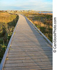 Boardwalk - Wooden boardwalk in Eastern Passage Nova Scotia