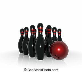 Bowling Stuff - 3D model