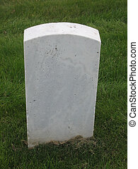 Blank Gravestone - Blank white gravestone with space for...