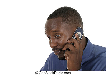 Man on Irritating Cell Call