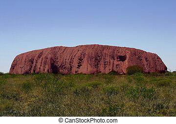 Ayers Rock - Uluru late in the day.