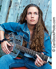Songwriter 2 - A beautiful country singer with a dobro...