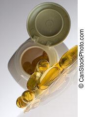 omega pills close up