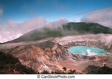 Volcan 3 - Poas volcano in Costa Rica with sunny day