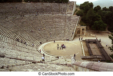 Epidavros Amphitheater - View from the top of the...
