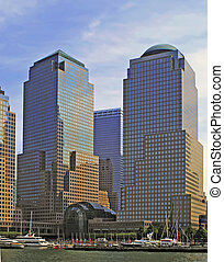 NYC SKYLINE 29R2 - The World Financial Center at Battery...