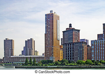 NYC SKYLINE 28 - New York City - view from the river