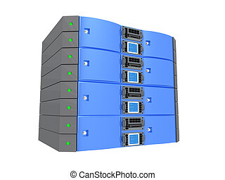 Twin Server - Blue - Computer generated image - Twin Server...