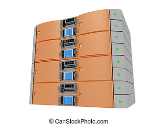 Twin Server - Orange - Computer generated image - Twin...