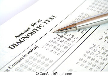 Diagnostic Test - Blank Answer Sheet and a Pen