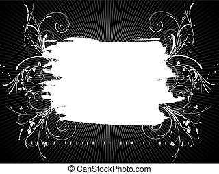 Grunge background - Grunge style background with decorative...