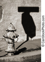Abstract Firehydrant - Vintage firehydrant in toned black...