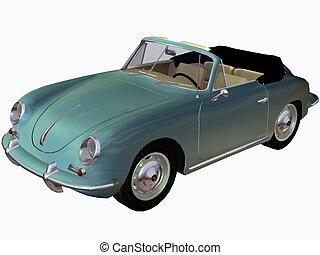 1961 EU Sportscar - 3D Render