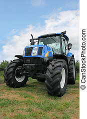 New Four Wheel Drive Tractor - New blue and black four wheel...